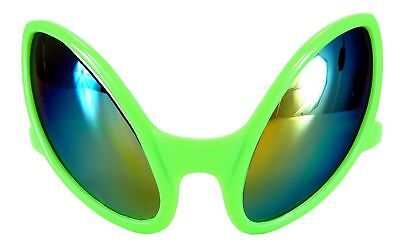 Close Encounter Alien Costume Mirrored Glasses Green Adult One Size