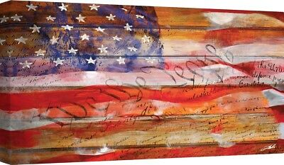 Flag Of Texas Lone Star State Banner Secede 11x14 Real Canvas Giclee Art Print