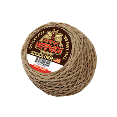 Organic Humboldt Hemp Wick® - 100 Feet 1mm Full Flame - MADE IN USA