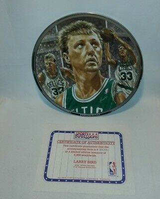 ☆ New Larry Bird Celtics Limited Edition Collector Plate Sports Impressions F/s