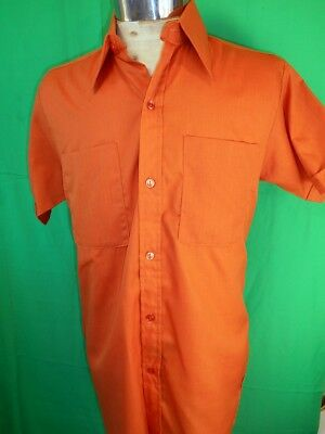 Vintage 60s 70s Sahaco of Melbourne Short Sleeve Poly/Cotton Summer Shirt  S