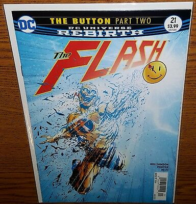 Flash #21 NEWSSTAND COVER $3.95 VARIANT (The Button Part 2) (NM)