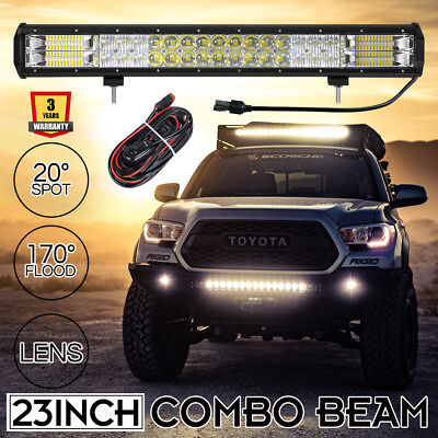 23inch CREE Led Work Light Bar Spot Flood Beam Offroad Driving Lamp 4WD 1LUX@580