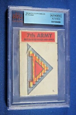 1965 Topps Battle Cards - Cloth Emblem #1 - 7th Army - BVG Authentic