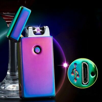 Windproof USB Dual Arc Flameless Cigarette Lighter Rechargeable Electric Lighter