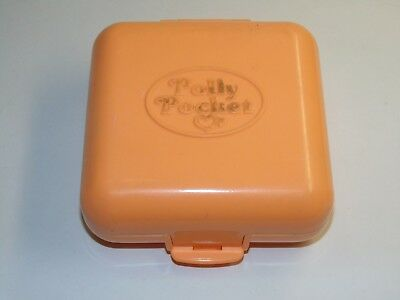 Polly Pocket POLLY'S TOWN HOUSE 1989 Compact Orange Square Set Bluebird Vintage