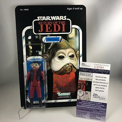 1983 STAR WARS NIEN NUNB Vintage Figure MOC with Mike Quinn Autograph JSA