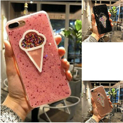 Sprint Rubber Case Ice Cream Pattern Soft TPU Silicone Cover For iPhone 6/6s