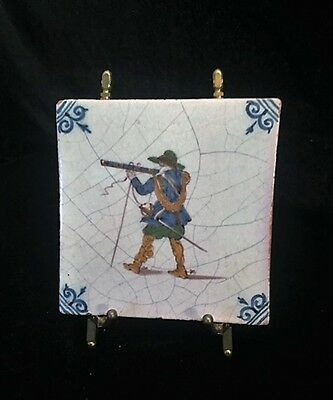 17th Century | Dutch Tile | Musketeer Soldier