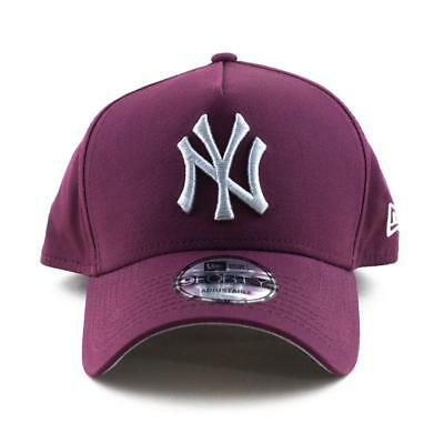 New York Yankees New Era Cap MLB 9Forty A-Frame Curved Brim Hat In Maroon