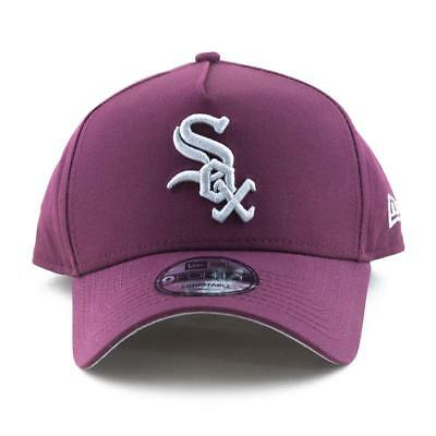 Chicago White Sox New Era Cap MLB 9Forty A-Frame Curved Brim Hat In Maroon