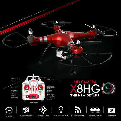 Drohne Quadcopter Syma X8HG 2,4G 4CH 6Axis Headless 3D-Flip RC + 8MP HD Kamera