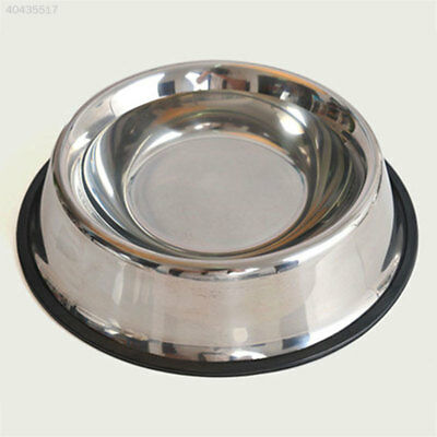 15CM Stainless Steel Pet Puppy Anti-Slip Feeding Feeder Food Water Bowl