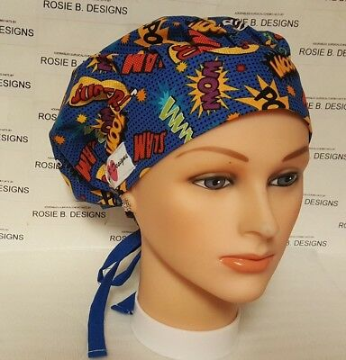 PAWS DYE COLOR //BOUFFANT  HAT  SCRUB //MEDICAL//CAP//DR/'S OR,RN/'S MEDICAL STAFF