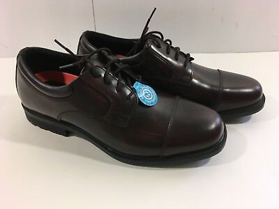 a4720743c2af New ROCKPORT Northfield Men s Brown Waterproof Shoes Leather Lace Oxfords  SIZE 9