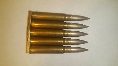 8mm Mauser Snap Caps Dummy Rounds Training Rounds With Turkish Clip. K98 M48