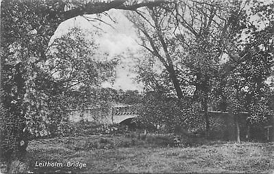 Leitholm Bridge ~ An Old Postcard #83718