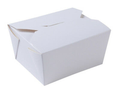 500 Karton Boxen 600 ml weiß Menübox Nudelbox Food to go Karton (BIO-01610)