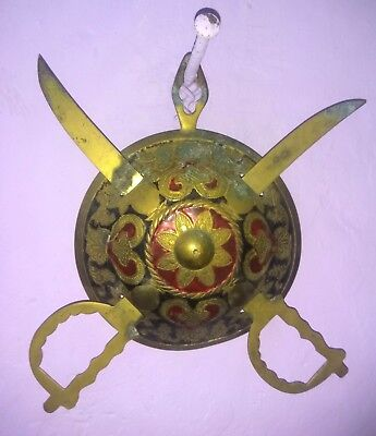 Antique Brass~Sword With Dhal~From India Rare.