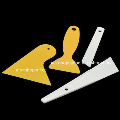 Plastic Scraper Plates Paint Removal Portable Accessories For Stickers Car Glass