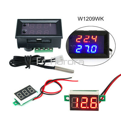 W1209WK Digital LED Thermostat Temperature Controller+Red LED Voltage Meter