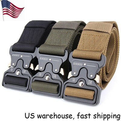 "49*1.77"" ENNIU Men Tactical Buckle Belt Military Nylon Belt Training Belt Strap"