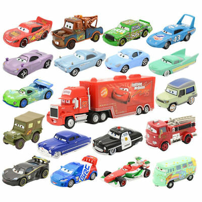 Pixar Cars Diecast Cars 1-3 McQueen Frank Chick Hicks King Smokey Tow Mater Toys