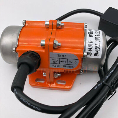 Industry Vibration Motor 110V 30-100W Adjustable Speed Vibrating Motor Aluminum