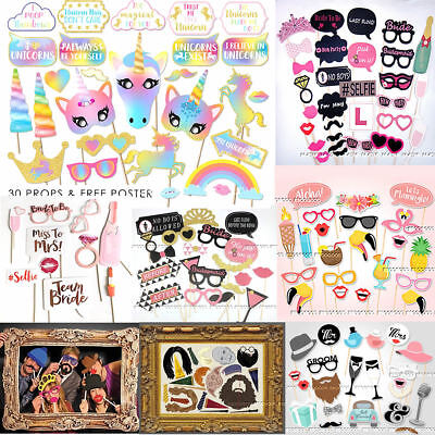 Hen Party Props Photo Booth Moustache Frame Birthday Engagement Wedding Game DIY