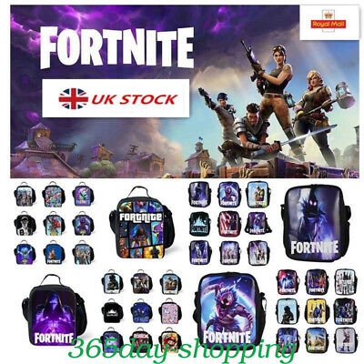 Fortnite Battle Royale Insulated Lunch Bag Girls Boys School Snack Box Backpack