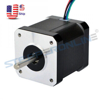 0.9deg US Ship Nema 17 Stepper Motor Bipolar 2A 46Ncm(65.1oz.in) 4-wires DIY