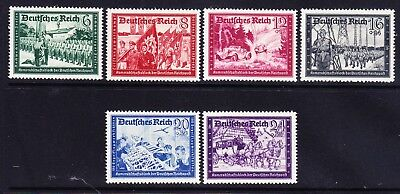 GERMANY THIRD REICH 1941 SG761/6 Postal Employees Fund set of 6 u/m. Cat £65