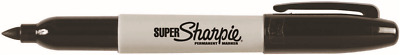2x Sharpie SUPER PERMANENT MARKER 1.5mm Resilent Tip BLACK *USA Brand