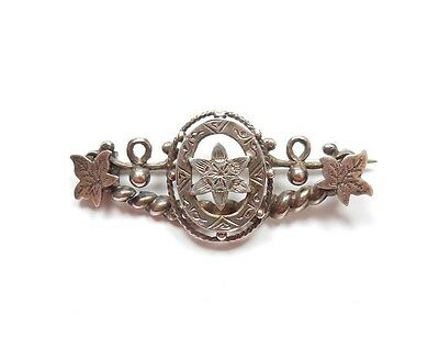 Antique Victorian Brooch Sweetheart Chester 1899 HM 925 Sterling Silver 3.6g