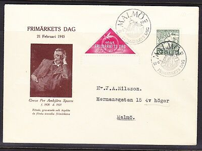 Sweden 1945 Stamp Day Malmo to Malmo Cover