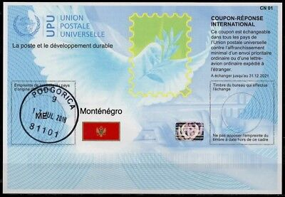 MONTENEGRO Is41  20180215 AA Intern. Reply Coupon Reponse Antwortschein IRC IAS