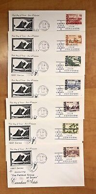 Canada FDC, 1967, Group of Seven, Seven Values