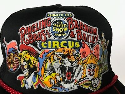 Vintage 1986 Ringling Bros And Barnum & Bailey Circus Snap Back Mesh Hat Trucker