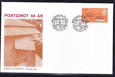 Sweden 1975 Post Giro 50th Anniversary Illustrated  First Day Cover  Unaddressed