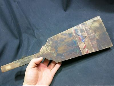 "Old Japanese Hagoita Paddle 16.7"" Edo period antique Japan"