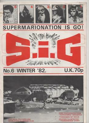 S.I.G. Magazine #6 Winter 1982 (Gerry Anderson) Very Good condition