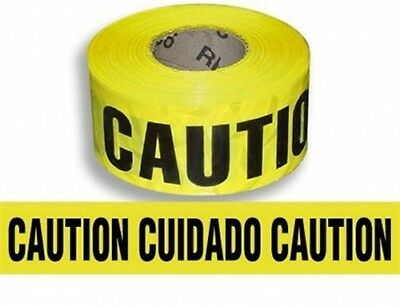 Lufkin 3in Bilingual Spanish Barricade Caution Tape 1000ft Roll NEW Made In USA