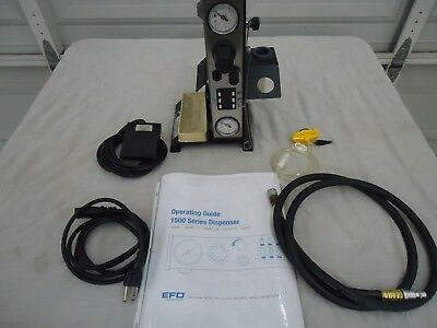 EFD 1500XL-C Fluid Dispensing System w/ Air Hose, Power Cord, Foot Pedal, Manual