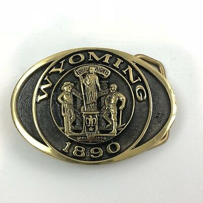 Heritage Mint 1890 Wyoming Statehood Buckle Solid Brass