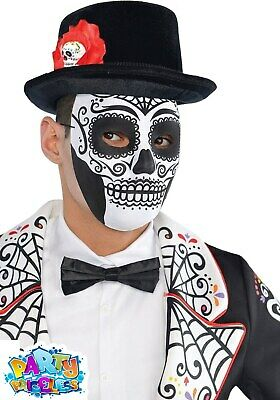Day Of The Dead  Mask Mexican Sugar Skull Halloween Fancy Dress Accessory