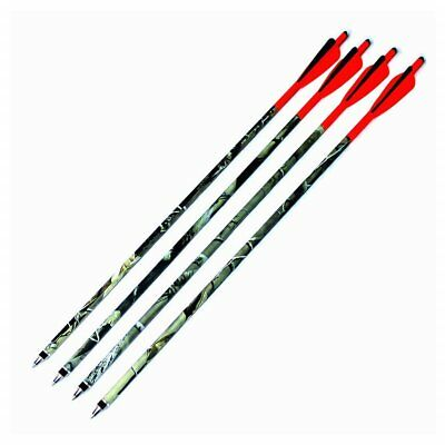 12pcs Carbon Crossbow Bolts Arrows Hunting Shaft Fletched 4'' Vanes Feathers
