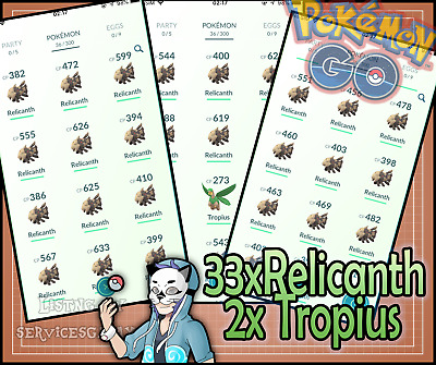 Pokemon Go Accounts with Regionals with Torkoal/ /Tropius /Relicanth and more