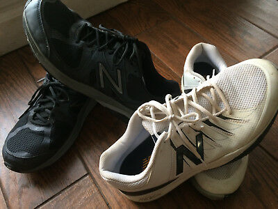 New Balance Men's Athletic Shoes 2 Pairs Size 13 Wide Black, White