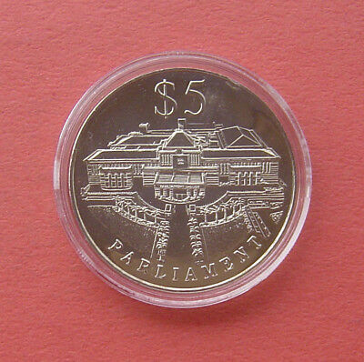 Singapore 1999 Parliament 5 Dollars Copper-nickel Proof-Like Coin