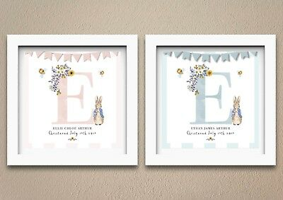 Personalised Peter Rabbit Christening or Birthday Gift | Print | Girl or Boy